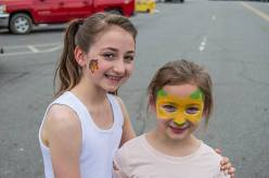 Two of our girls rocking their face paint!